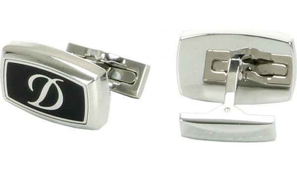 Cuff Links White Diamonds & White Solid Gold